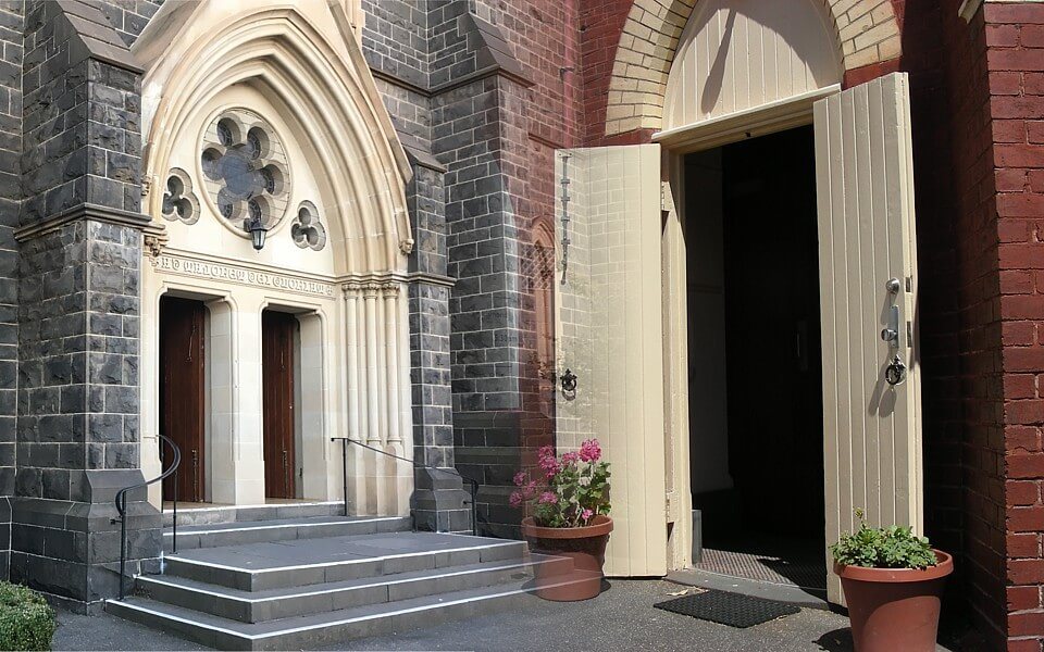 Church open doors